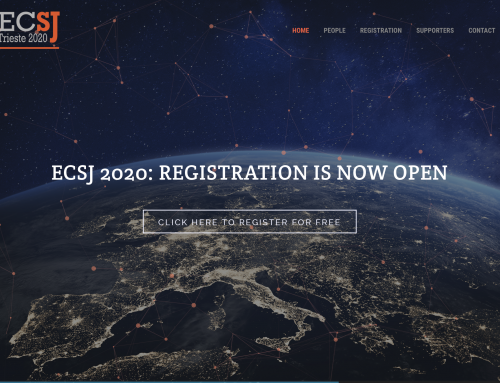 Registration is now open for the Trieste ECSJ2020 online Conference