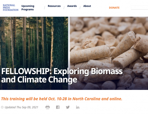 Fellowships available to learn about biomass and climate change